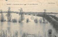 GERGY - inondations 1910 - le pont Boucicaut