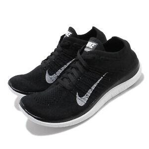 Nike Wmns Free 4.0 Flyknit Black White Run Women Running Shoes 631050-001