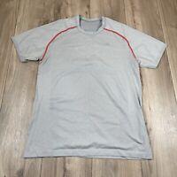Lululemon Metal Vent Tech Short Sleeve Shirt Mens size Medium Grey Athletic Gym