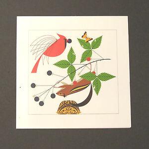 "Charles/Charley Harper Notecards ""A Good World"" 4 Pack w/Envelopes"