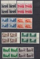 Russia 1949 Mi 1371-80 Blocks of 4 MNH OG