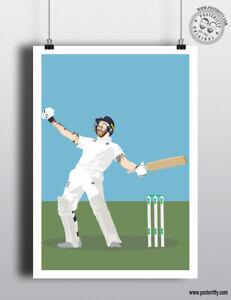 BEN STOKES 2019 Ashes Cricket Icon Minimalist Sport Poster Print Posteritty Art