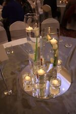 Cylinder Vases for Hire (3 set) with 40cm mirror