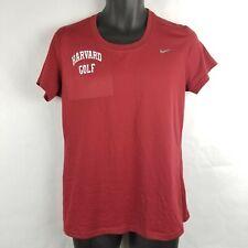 Nike Harvard University Golf Dri Fit Athletic Crimson Ivy League T Shirt Medium