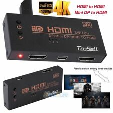 Dual HDMI&Mini DP Displayport in to 4K*2K HDMI out Switch Selector 3 in 1 HDTV