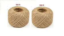 2 pcs 560 feet Natural 2 Ply Twisted Twine String Rope Toy Craft  new