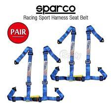 2x NEW JDM 4 Point Racing Sport Harness Seat Belt BLUE