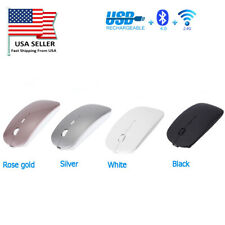 Bluetooth Wireless Mouse Rechargeable Optical fr Laptop Ma Android Windows PC