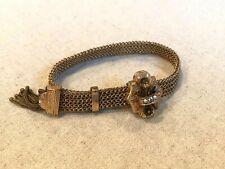 Mesh Sliding Bracelet Antique Victorian Gold Filled