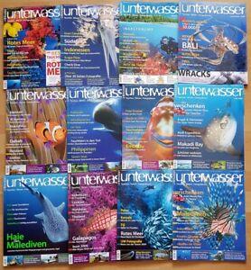 12x Unterwasser 2009 Jahrgang Zeitschrift Sport Meere Tiere Urlaub Tauchen