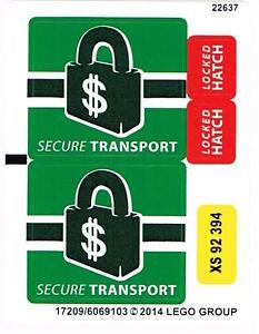 LEGO 76015 Sticker Sheet for Spider Super Heroes Doc Ock Truck Heist NEW Decals