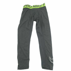 New Nike Little Boys Pro Cool Compression Leggings Gray Choose Size MSRP $30.00