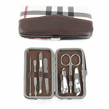 7 Pcs Portable Stainless Steel Nail Cutter Travel Manicure Set Kit New With Box