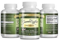 Green Coffee Premium - Weight Loss Supplement - 50% Chlorogenic Acid  -3 Bottles