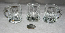 """Set of 3 Clear Glass 1-7/8"""" High Mug Type Shot Glasses from Federal Glass"""
