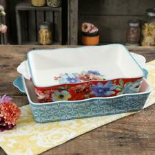 New listing The Pioneer Woman Spring Bouquet Rectangular Baking Casserole Dishes 2- Pc Set