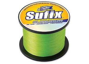 2 Spools of Sufix Superior Mono Line-Yellow- 80# Test-Total 2890 yards-Free Ship