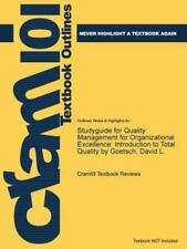 Studyguide for Quality Management for Organizational Excellence :...