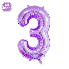"""40"""" Giant Number 3 Foil Balloon Baby Shower Birthday Party Decor EF"""