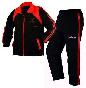 EVO Mens Tracksuit Set Jogging Sports Gym Bottoms Zipper Trouser Football Casual