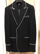 Dior Homme Hedi Slimane FW06 Tuxedo Jacket Wool Sz EU44 Saint Laurent