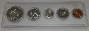 1950 United States Mint 5 Coin Proof Set in Whitman Holder 90% Silver (B)