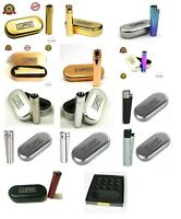 Genuine Metal Clipper Cigarette Lighters  Multi Colours With Free Tin,Refillable