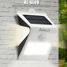 ARILUX LED Solar Powered PIR Motion Sensor Security Wall Garden Light Outdoor