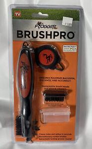 Frogger BrushPro Retractable Dual-Bristle Club Brush/Groove Cleaner Orange