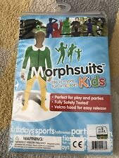 Kids ELF Morphsuit Costumes - Morph Suit Halloween Fancy Dress Skin age 6-8 yrs