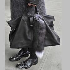 "Big Fox Fur Tail Keychain Tassel Bag Handbag Pendant Accessory Purse 16""-18"""