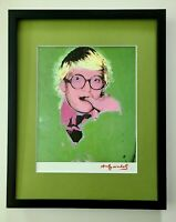 ANDY WARHOL AWESOME 1984 SIGNED  DAVID HOCKNEY MATTED TO BE FRAMED AT 11X14