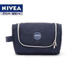 2017 NIVEA Mens Hanging Travel Toiletry Kit Wash Bag Shaving Case Cosmetic Bag