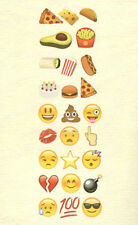 EMOJI MOVIE wall stickers 26 colorful decals teen decor phone text face EMOTICON