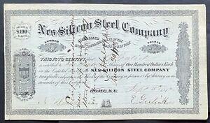 NES-SILICON STEEL CO Stock 1872. Rome, NY. Inventor C.M. Nes. Sandusky, OH Mills