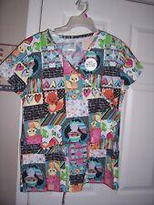 Nwt Bobbie Brooks Fox Design Uniform Scrub Top Size Medium Top #3