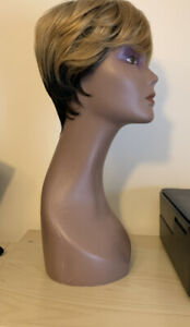 100 % Human Hair Short Wig With Dyed Roots