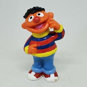 Vintage Ernie Hand to Cheek PVC Figure Sesame Street Applause Cake Topper