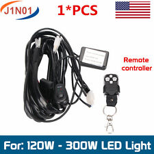 Remote Control Wiring Harness Kit Strobe Switch Relay Led Light Bar 120W-300W J1