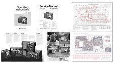 OPERATING / SERVICE MANUALS + BROCHURE for the PANASONIC RF-2200 - PHOTOCOPY