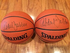 Lakers Kareem Abdul-Jabbar Signed Autograph Official NBA Game Spalding Authentic