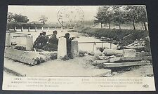 CPA 1915 GUERRE 14-18 SOLDATS BELGES TERMONDE BELGIQUE BELGIË