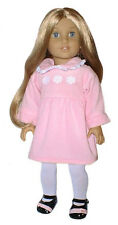 Pink Velour Snow Dress Fits 18 inch American Girl Dolls