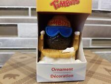 2012 Tim Hortons Chocolate Timbit On A Sleigh Sled Toboggan Christmas Ornament