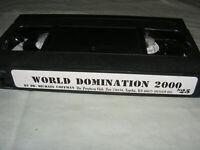 World Domination 2000 VHS Dr. Michael Coffman Video Prophecy Club satanic panic