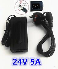 24V 5A AC DC Switching Power Supply Adapter Charger Desktop PSU UK 3 Pin Plug CE