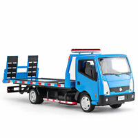 1:32 Nissan Cabstar Flatbed Trailer Tow Truck Model Car Diecast Toy Blue Kid New