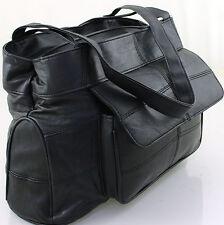 Large Women Genuine Lorenz Real Leather Organiser Shoulder Bag Handbag UK SALE