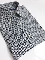 Ralph Lauren Men's Shirt Short Sleeve Black/ White Tattersall Checks