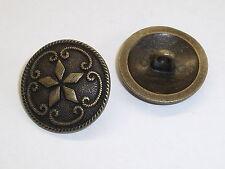 8 Stück Metallknöpfe Knopf Ösenknopf Knöpfe 23 mm altsilber NEUWARE #835#
